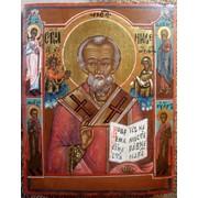 Икона Св. Николай Чудотворец XIX в фото