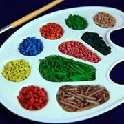 Крошка резиновая цветная кор-гранулы
