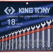 Набор комбинированных ключей, 6-24 мм, 18 предметов KING TONY 1218MR01 фото