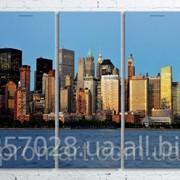 Модульна картина на полотні Панорама New York код КМ100200(200)-052 фото