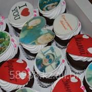 Кексы с фото фото