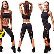 Женский спортивный костюм тройка для фитнеса фото