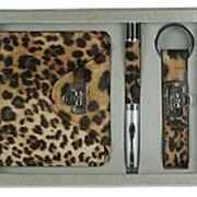 Подарочный набор: бумажник, ручка, брелок 21*16*4см. 140306 фото