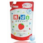 Детское пенное мыло SK Kids для тела с ароматом клубники 250мл (мягкая экономичная упаковка) 4964495502103 фото