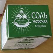 Соль пищевая среднего помола фото