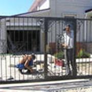 Монтаж ворот фото