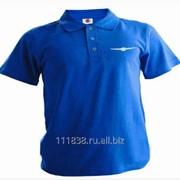 Рубашка поло Chrysler синяя выш белая фото