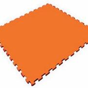 Мягкий пол универсальный, оранжевый, 100х100см, с 2 кромками (Экополимеры) фото
