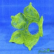 Каркас для букета 25см сизаль цветок зеленое яблоко фото