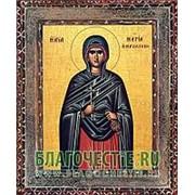 Благовещенская икона Мария Магдалина, мироносица, святая равноапостольная, копия старой иконы, печать на дереве Высота иконы 11 см фото