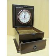 Шкатулка-для украшений с окошком и выдвижным ящиком-лаковая, арт. 9380 фото