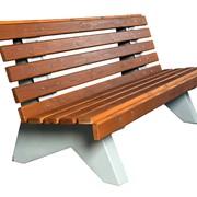 Скамейка бетонная со спинкой Парковый диван
