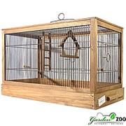 Клетка РЕТРО-КАНТРИ для птиц средняя деревянная палисандра фото