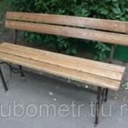 Скамейка садовая со спинкой 1,5м фото