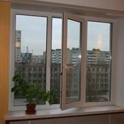 Трёхстворчатое металлопластиковое окно 2100*1400 фото