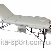 Стол массажный алюминиевый 3-х сегментный Body Fi Бежевый фото