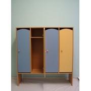 Шкаф детский 4-х секционный для одежды фото
