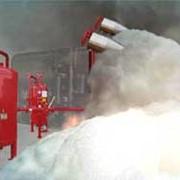 Установка модулей автоматических пенных систем пожаротушения фото