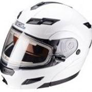 SOL Шлем снегоходный с подогревом модуляр SM-1 Solid PEARL WHITE фото