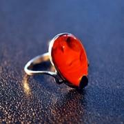 Янтарный перстень кольцо Модерн С фото
