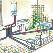 Монтаж систем водоотвода и водоснабжения фото