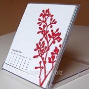 Настольный календарь белый фото