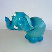 Копилка Слон кивающий с пружиной, 13*16,5*12 см фото