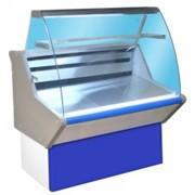 Витрина холодильная ВХН-1,0 Нова с гнутым стеклом,крашенный фото