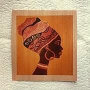 """Деревянная открытка """"Афроамериканка"""" фото"""