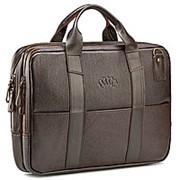 """Кожаная деловая сумка """"Гранд Карлос"""" (коричневая) фото"""