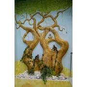 Рельеф дерево. Оформление. Роспись. фото