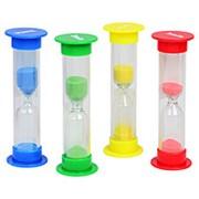 Часы песочные на 1, 2, 3, 5 мин. с цветным песком фото
