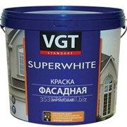 Краска ВГТ ВД-АК-1180 фасадная Супербелая, 15кг фото