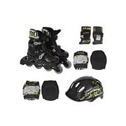 Роликовые коньки Action PW-120B + защита, шлем р.31-34 фото