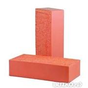 Кирпич строительный красный обожженный фото