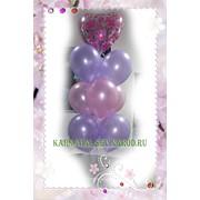 Букет из гелиевых шаров подарочный фото