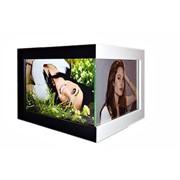 Угловая мультирамка фотоальт ручной работы модель 112 чёрно белая фото