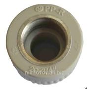 Комбинированная муфта для труб PPR фото