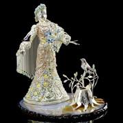 Эксклюзивная скульптура Снегурочка (серебро 925) фото