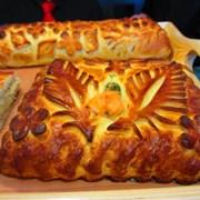 Пироги с доставкой: с капустой и мясом, с яблоками фото