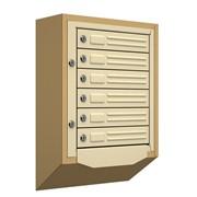 Антивандальный почтовый ящик Кварц-6, бежевый