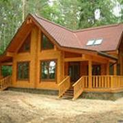 Деревянные дома, построенные из клееного бруса фото