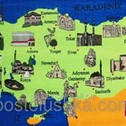 Пляжное полотенце велюр-махра Карта фото