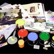 Услуги трафаретной печати, набивки на текстильных изделиях фото