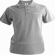 Рубашка поло Chrysler серая вышивка белая фото