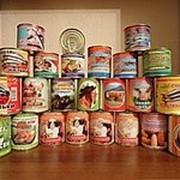 Оптовая продажа всех видов консерв от производителя фото