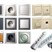 Розетки, выключатели(открытый, скрытый, АНАМ), распаечные коробки(АНАМ), удлинители 2-50м. фото
