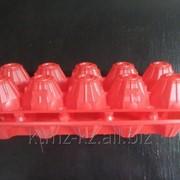 """Пластиковый контейнер для яиц П-12 """"Десятка"""" красный фото"""