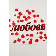 """Декор-надпись """"ЛЮБОВЬ""""с блёстками /красный фото"""