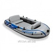 Лодка надувная четырехместная intex excursion 4 set, 315 cm x 165 cm x 43 cm 68324 фото